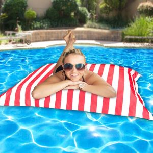 Pool Pillowz red and white stripe
