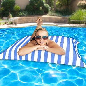 Pool Pillowz – Royal blue and white stripe