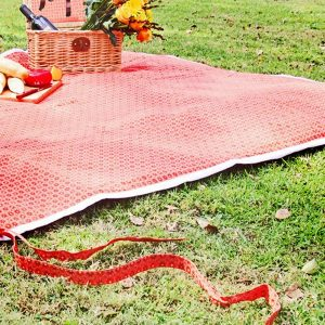 Orange Shwe Shwe Picnic Blanket