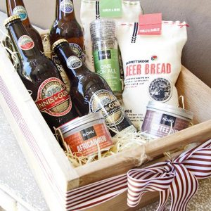 Oak Crate Box with Man Cave essentials
