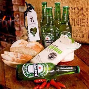 Heineken Beer 6 of the best  and Garlic Bread gift hamper