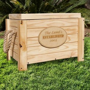 Personalised Wooden Cooler Box