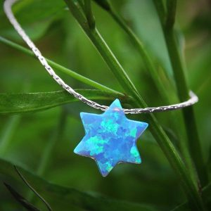 Opal Turquoise Star of David