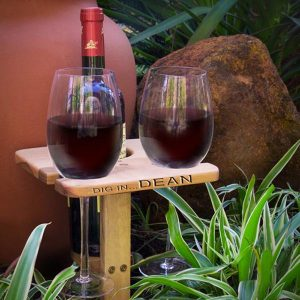 Personalised holder for wine and glasses