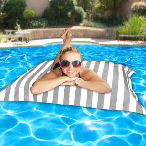 Pool Pillowz – grey and white striped