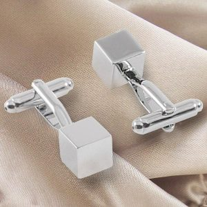 Small Square cufflinks Mirror polished