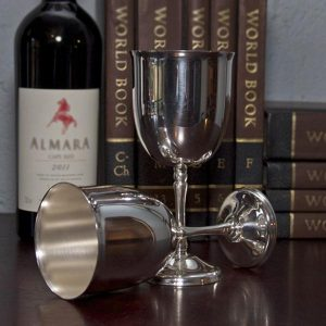Silver Plated Wine Goblet's