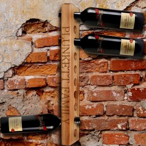 Personalised Kiaat wood wine rack