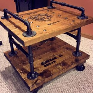 2 Tier Pipe Side Table