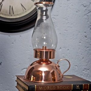 Copper Plated Hurricane Lamp