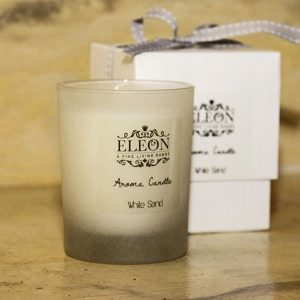 Eleon bath and body white sand aroma candle
