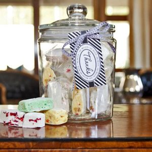 Glass Sweet Jar – Assorted Nougat