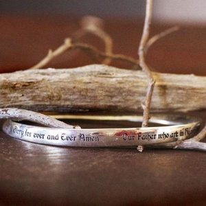 The Lords Prayer Bangle in Sterling Silver