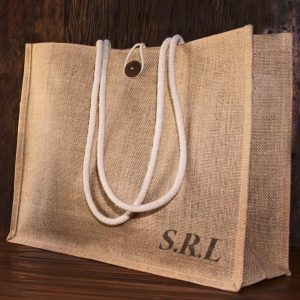 Personalised hessian bag