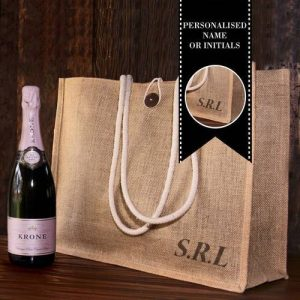 Personalised Hessian Carry Bag with Krone