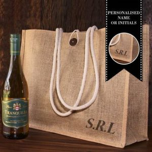 Personalised Hessian Carry Bag with Pierre Jordaan Tranquille