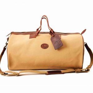 Short Canvas Safari Duffel Bag