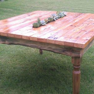 Succulent Shabby Schick Table