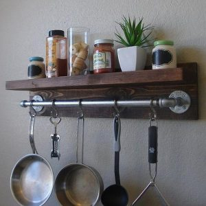 Pipe & Wood Pot Holder