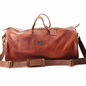 Leather Short Safari Duffel bag