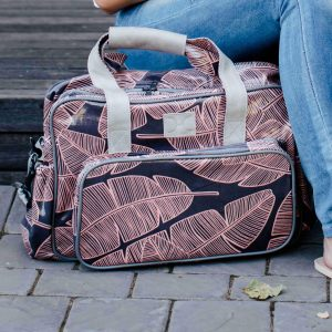 Stylish shelly beach nappy bag